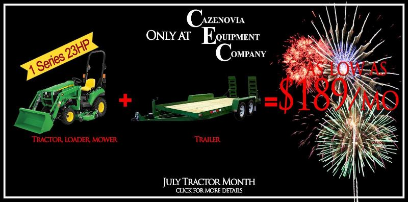 $189 month for tractor, loader, mower AND trailer!