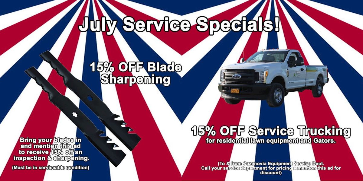 July Tractor Month Service Specials