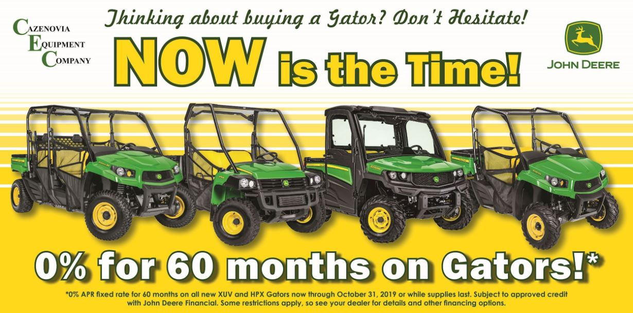 0% for 60 months on Gators