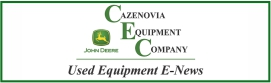 Used Equipment Newsletter Sign-up